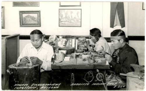 Navajo Silversmiths, Babbitt's Indian Shop, Flagstaff Arizona