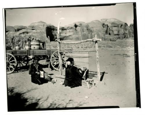 Navajo weavers.